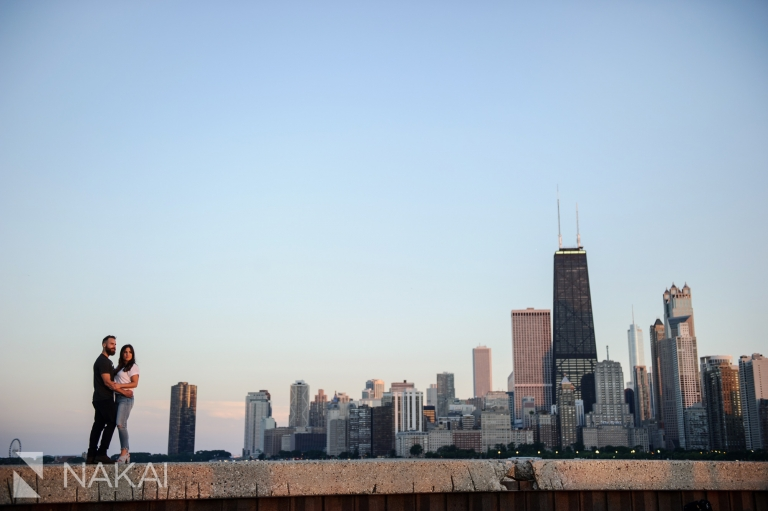 north ave beach engagement photos chicago