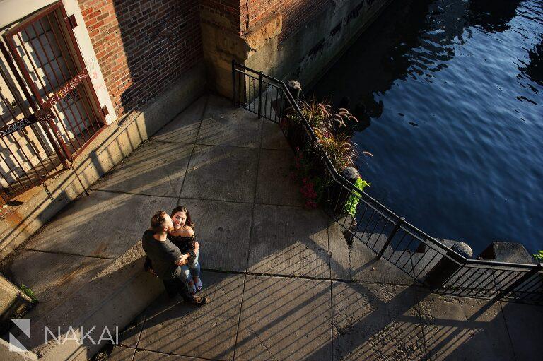 kinzie bridge chicago engagement photos