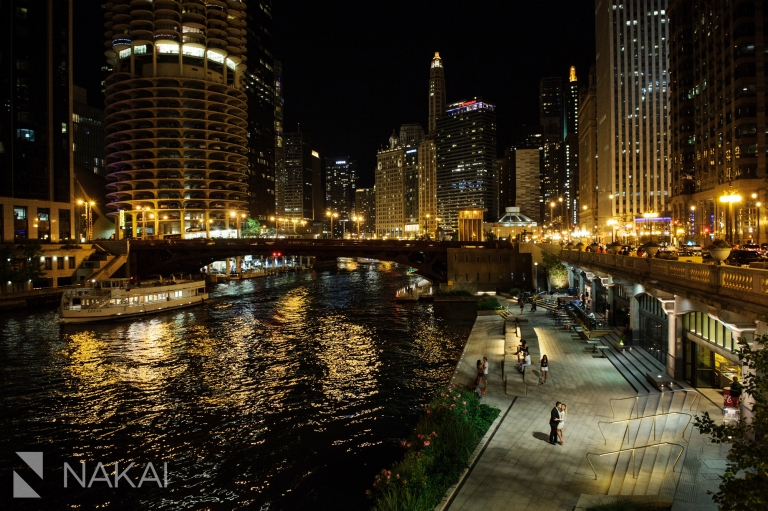best chicago photography locations engagement night
