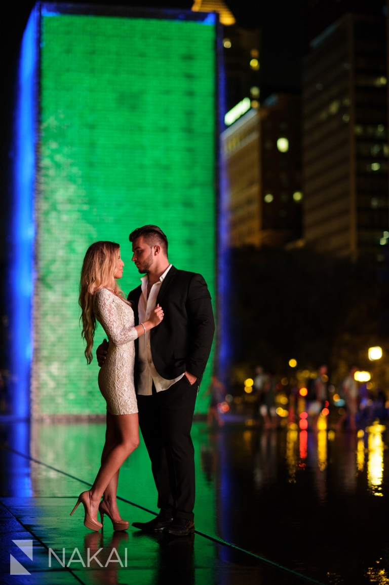 top night chicago photography spots engagement photos