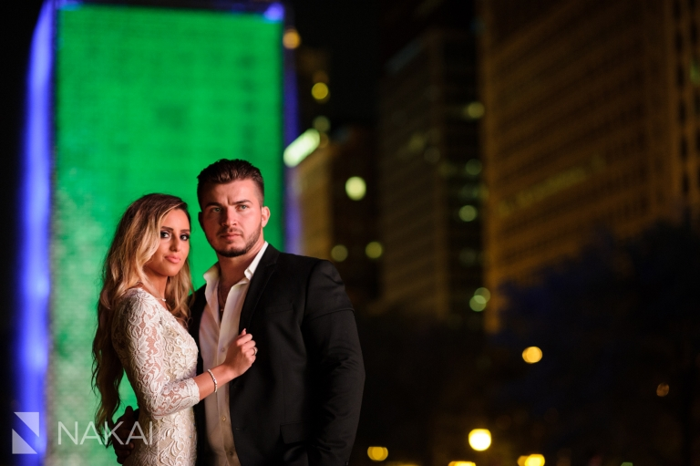 best night chicago photo locations engagement pictures