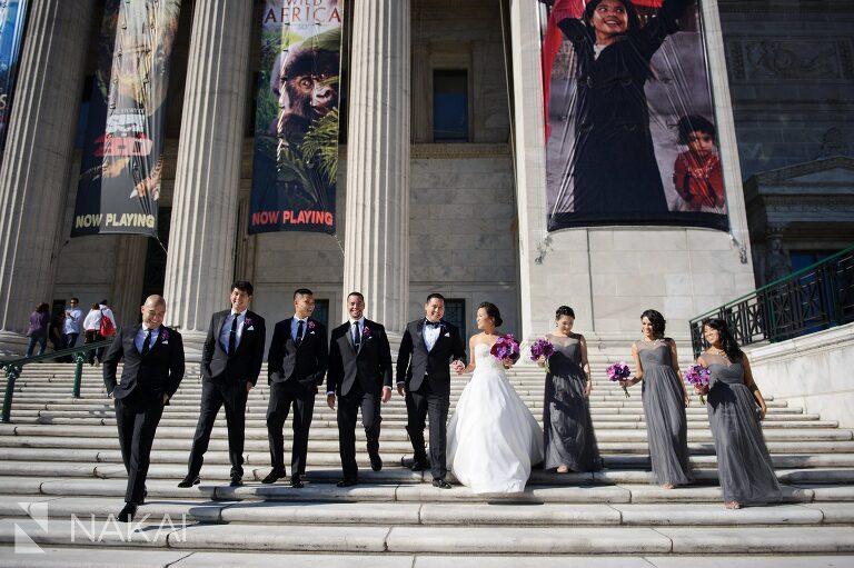 field museum wedding photo