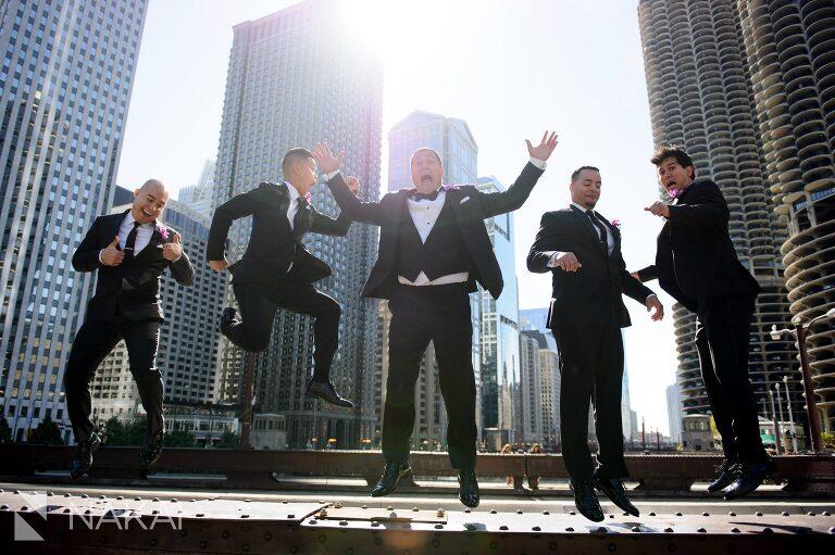 chicago wedding bridge picture