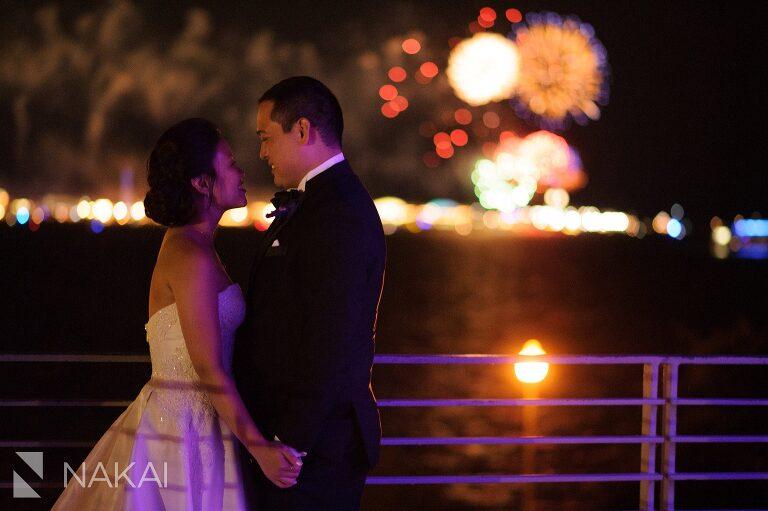 chicago wedding fireworks adler planetarium photographer