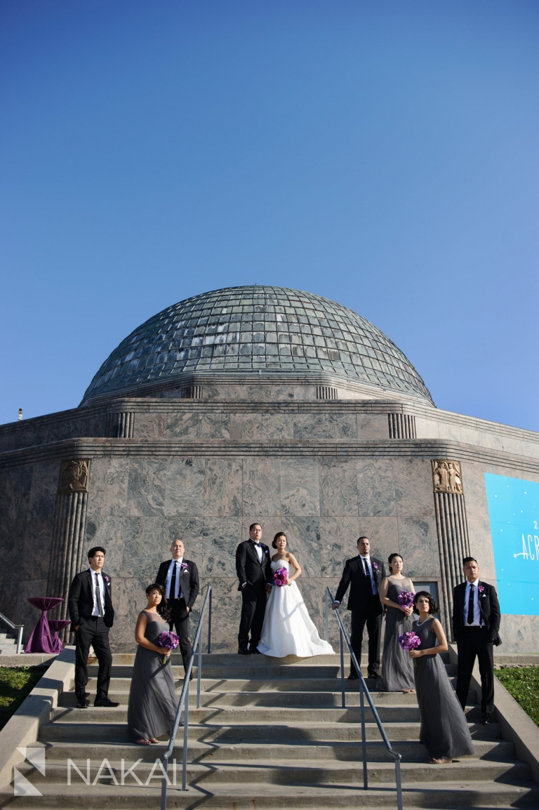 Adler Planetarium Wedding.Adler Planetarium Wedding Photos Photographer Nakai Photography