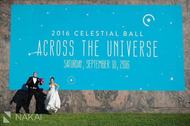 chicago wedding adler planetarium photos