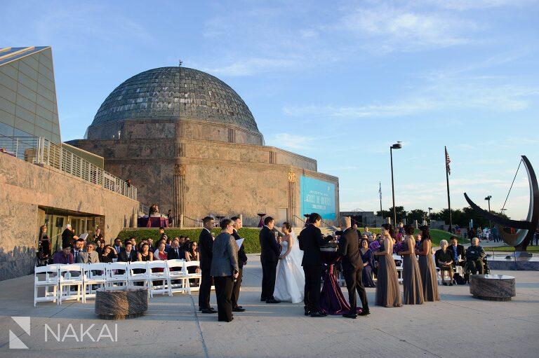 adler planetarium wedding ceremony photos
