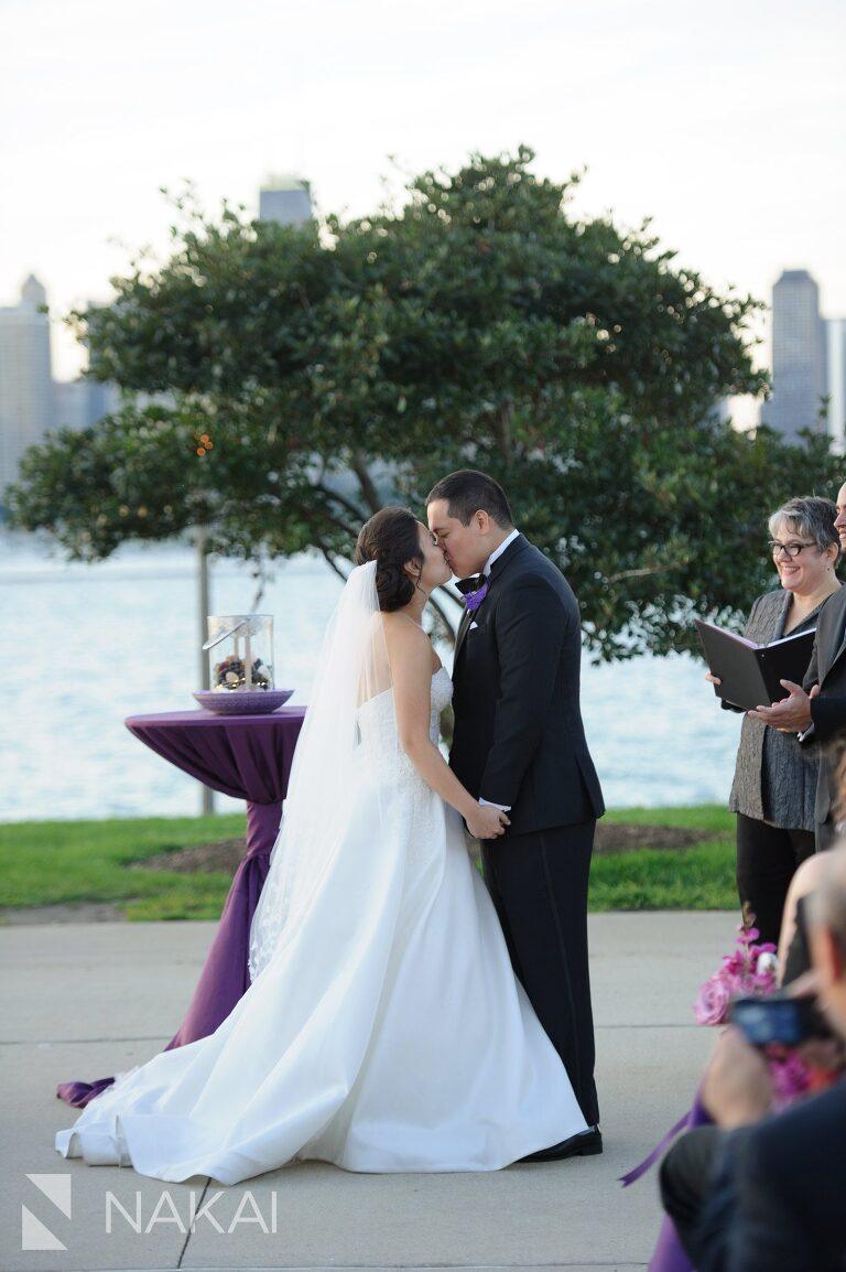 adler planetarium wedding ceremony photography