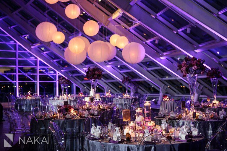 adler planetarium wedding reception photographer revel decor