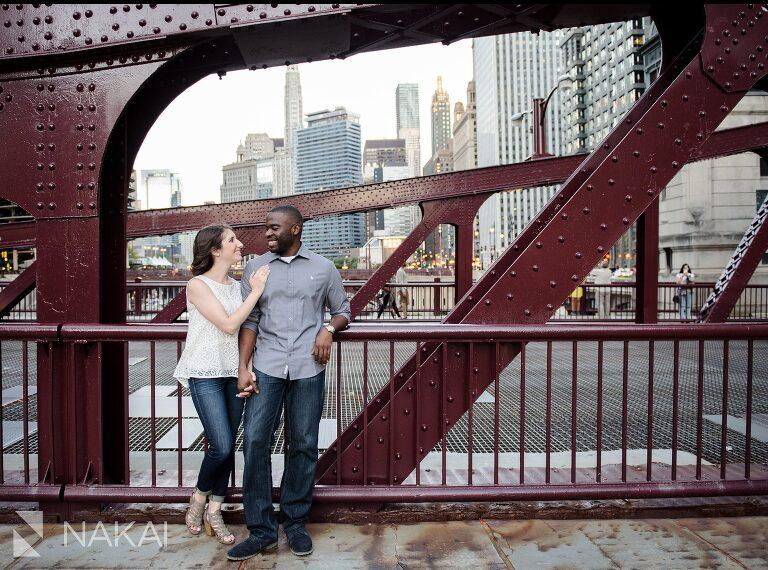chicago engagement photos river walk