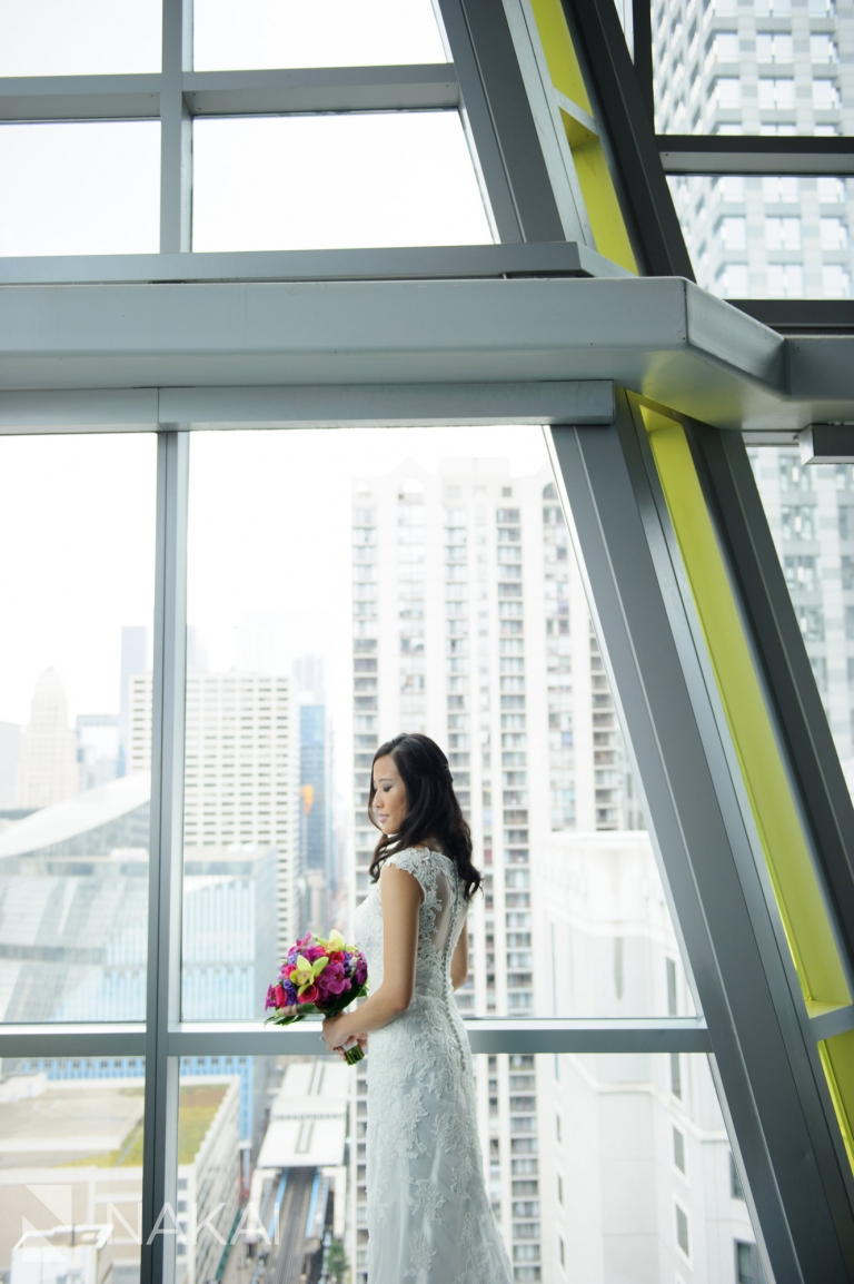 the wit wedding photographer roof bride chicago hotel