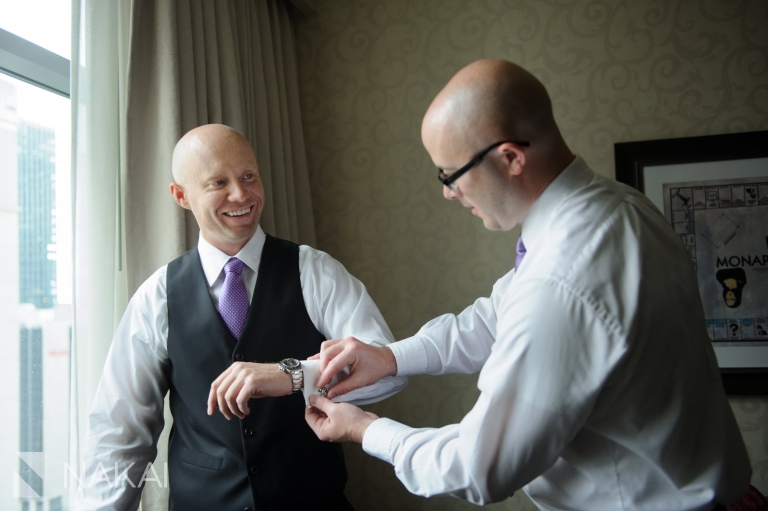 groom wedding getting ready photo the wit hotel chicago
