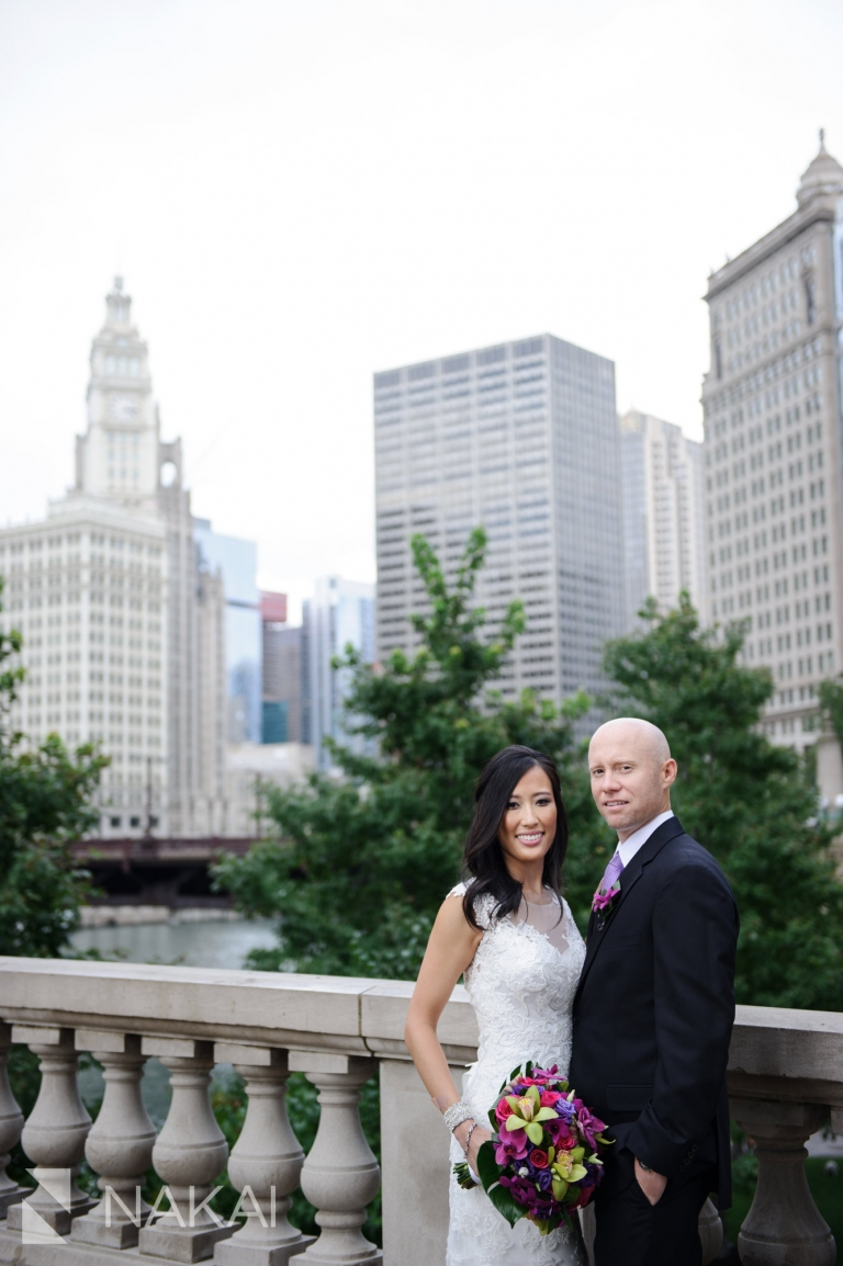 chicago riverwalk wedding photographer bride groom