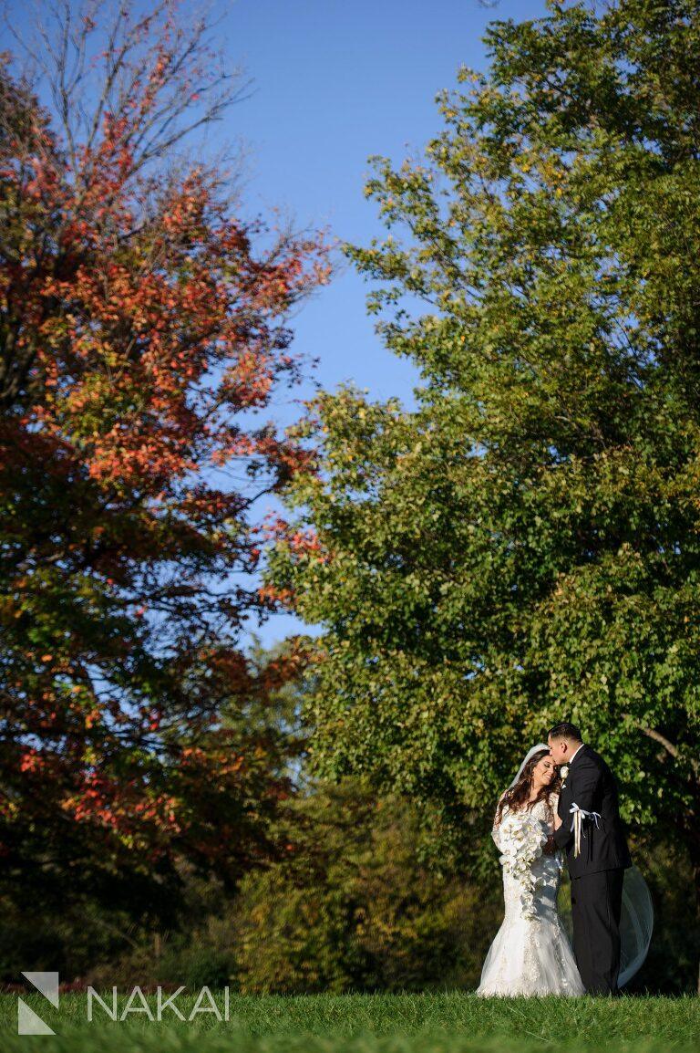 chicago forest preserve wedding photographer fall colors
