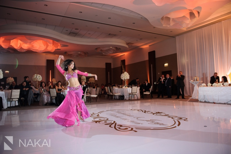 loews chicago ohare wedding reception picture belly dancers assyrian