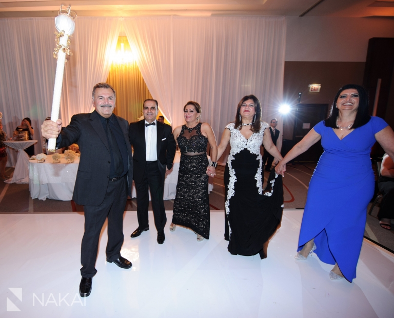 loews chicago ohare wedding reception picture assyrian dancing