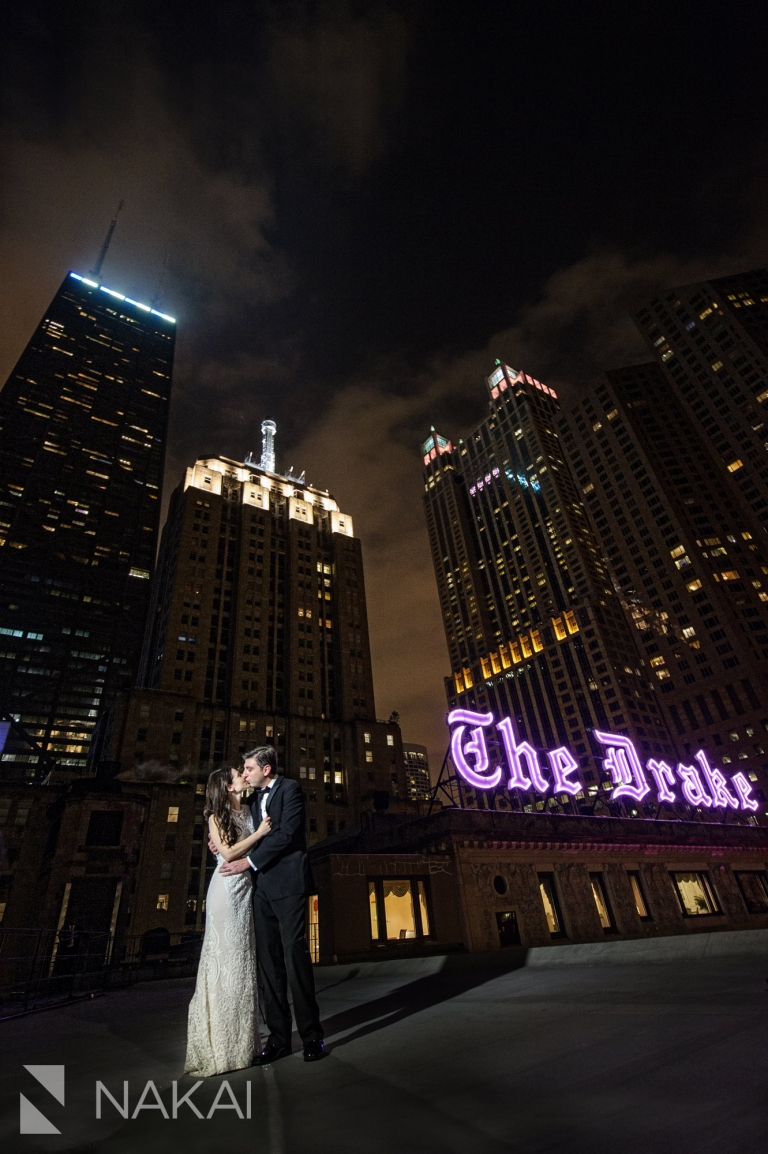 the drake hotel wedding photo rooftop chicago photographer