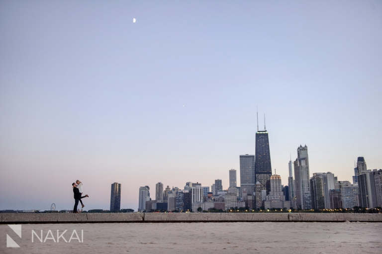 north avenue beach top chicago engagement photo location