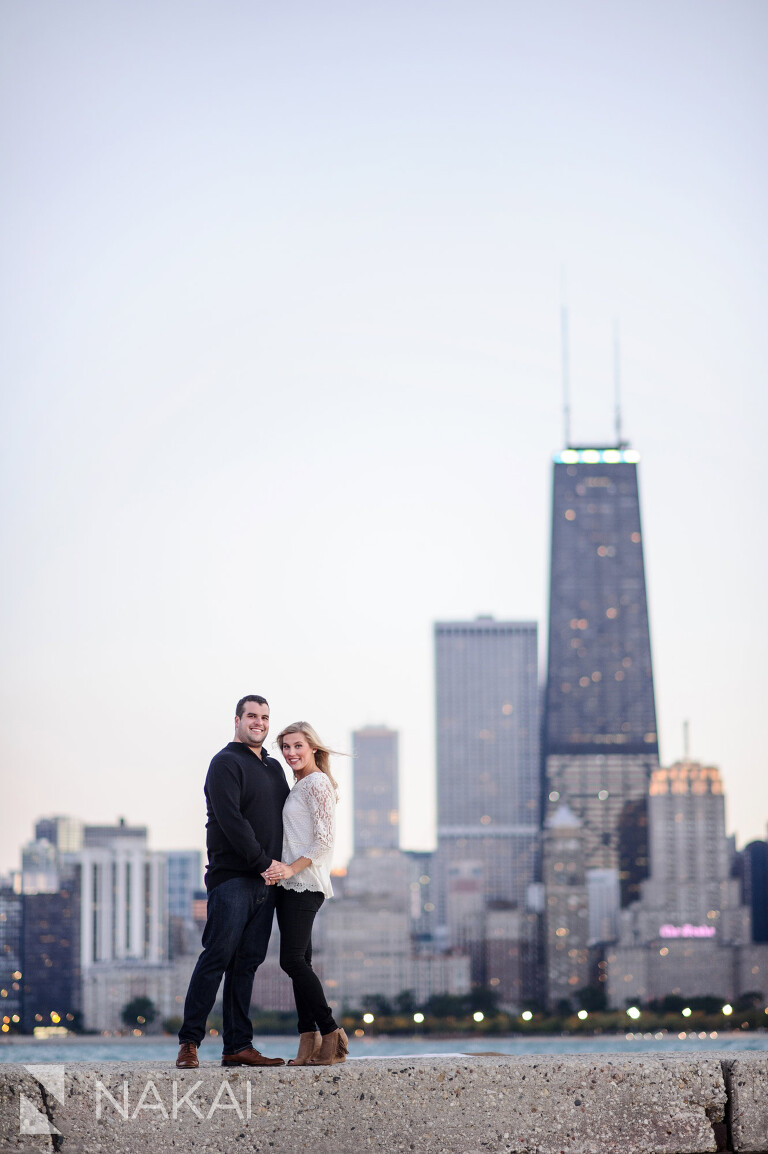 north avenue beach top chicago engagement picture location