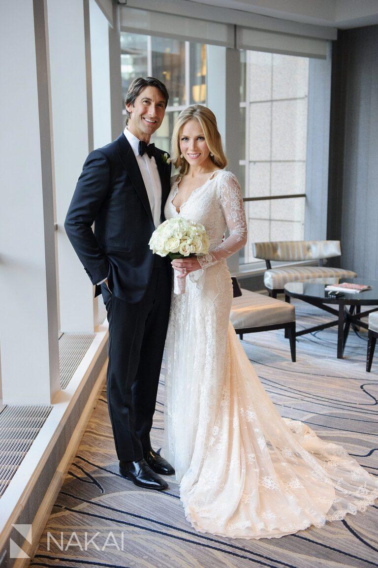 fairmont chicago wedding photo bride groom