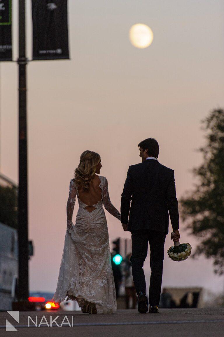 millennium park best wedding photographer sunset