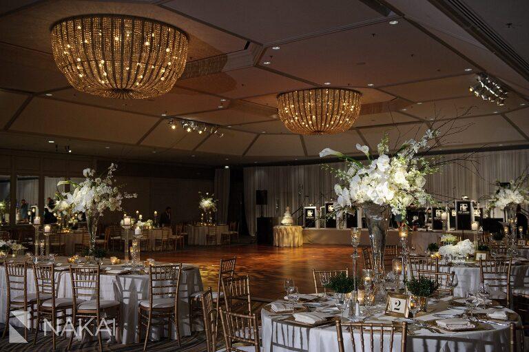 Fairmont Chicago luxury wedding photographer reception