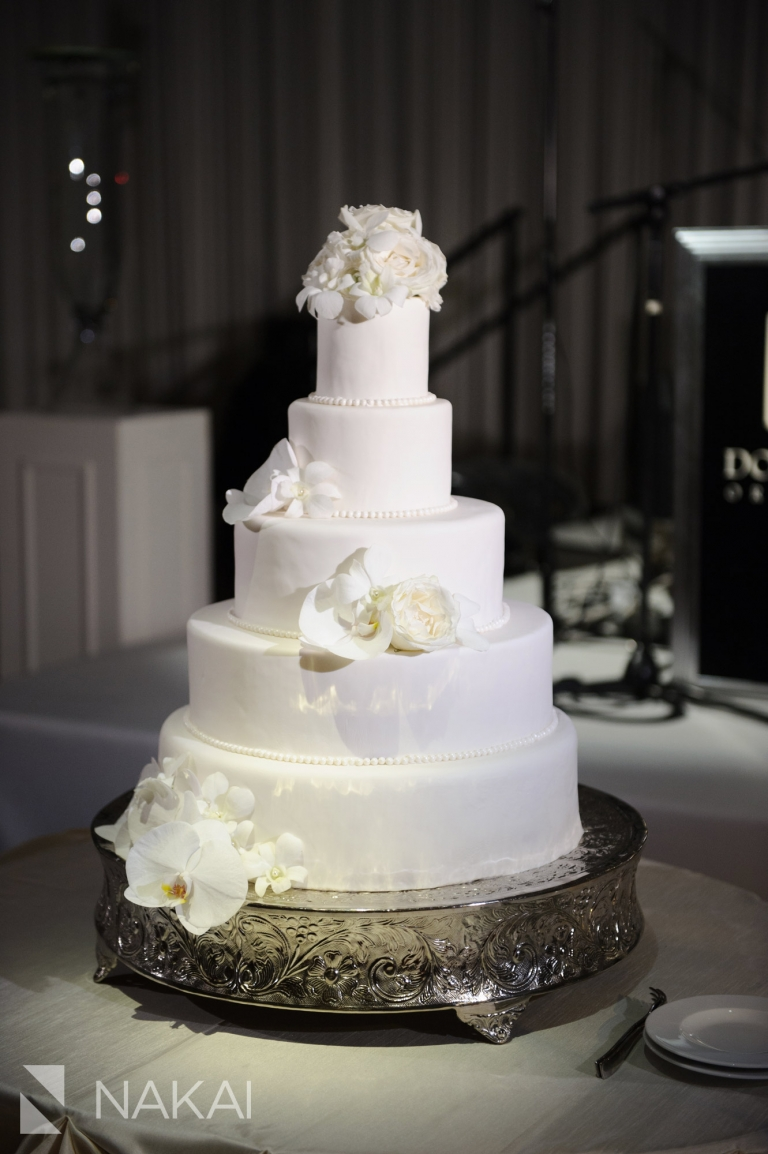 Fairmont Chicago luxury wedding picture cake reception