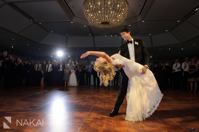 first dance fairmont chicago wedding reception picture