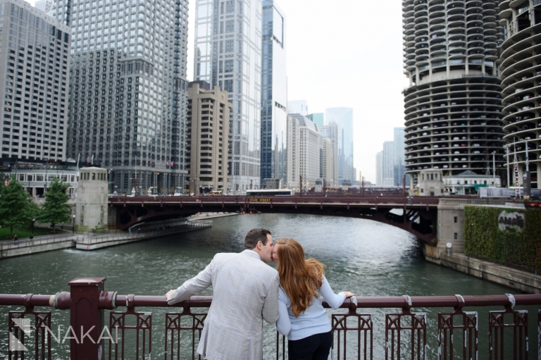 best engagement location chicago riverwalk photo