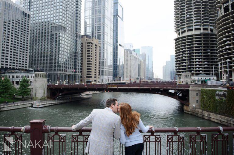 best engagement location chicago riverwalk photo