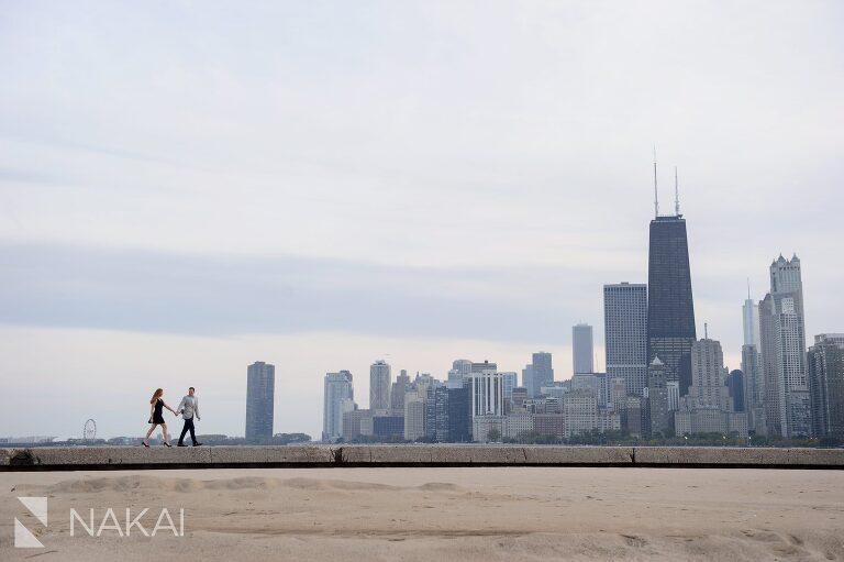 best engagement location chicago north avenue skyline photo
