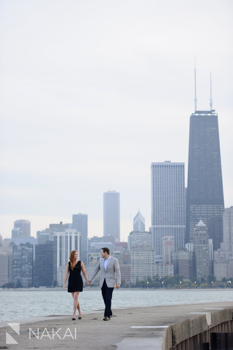 best engagement location chicago north avenue skyline image
