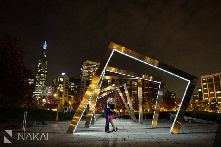 west loop engagement photo best loction