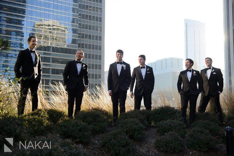 chicago aqua blu wedding photo groomsmen