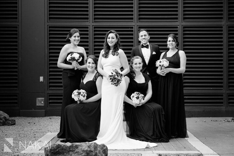 chicago radisson blu wedding photographer bridal party group