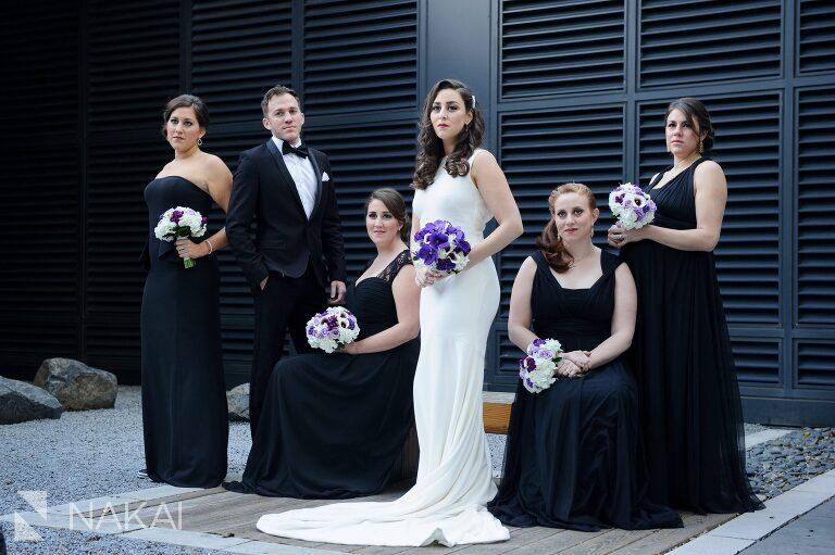 chicago aqua blu wedding photo bridesmaids