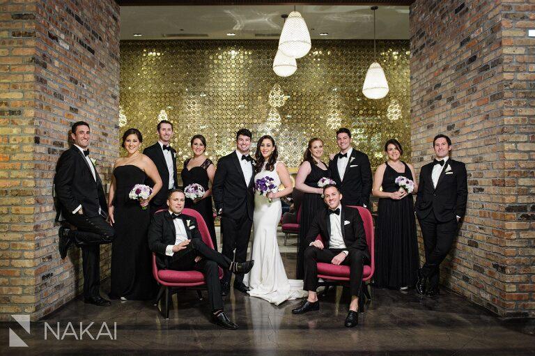 chicago radisson blu wedding photo bridal party