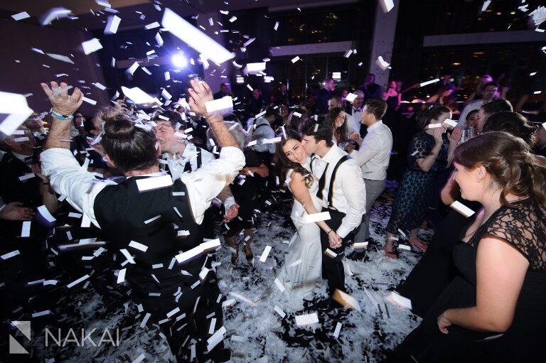 chicago radisson blu wedding image reception confetti