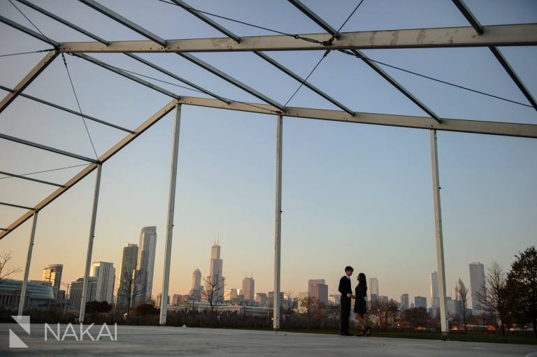 northerly island engagement photo chicago