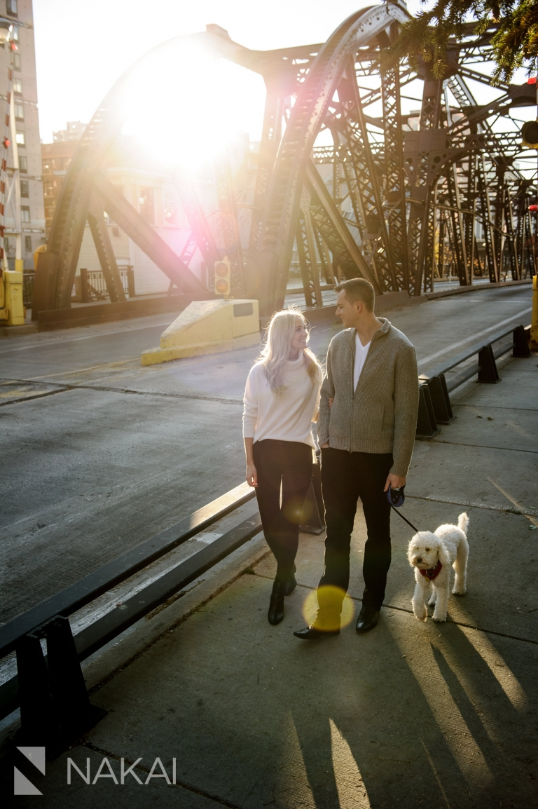 kinzie st bridge engagement photographer chicago