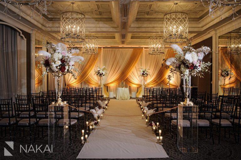 waldorf chicago wedding ceremony luxury photo