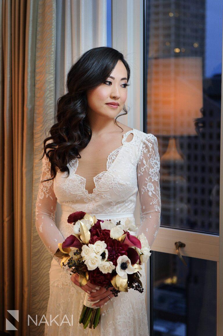chicago waldorf wedding photos bride