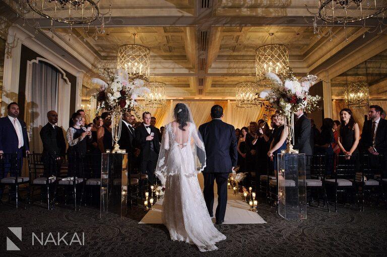 chicago waldorf wedding ceremony photo
