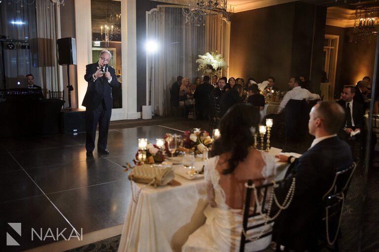 chicago waldorf astoria wedding reception photographer
