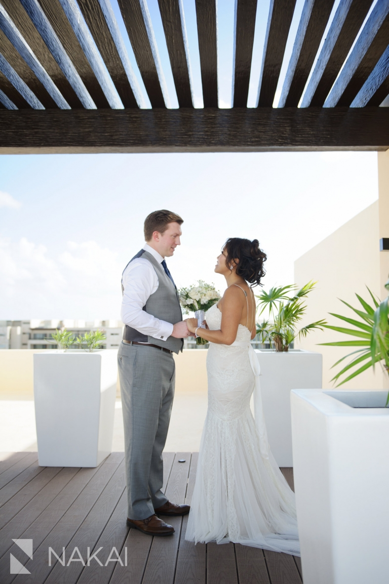 royalton riviera wedding pictures bride groom sky terrace