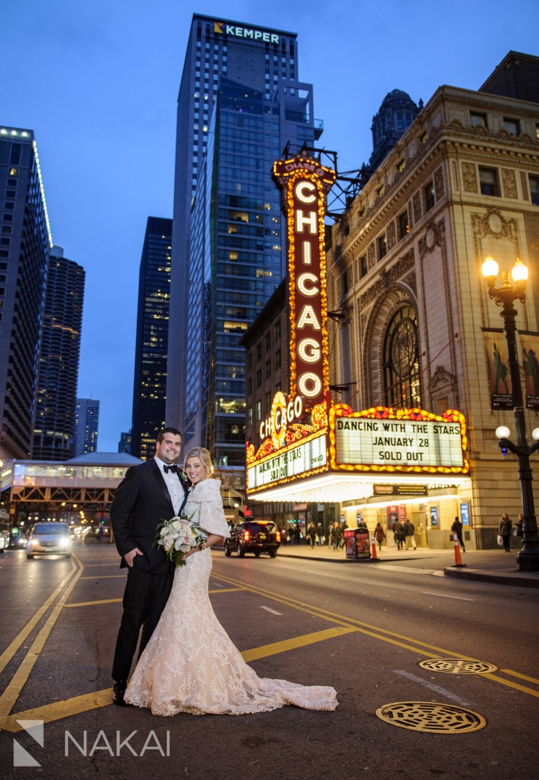 best chicago wedding photographer state street marquee