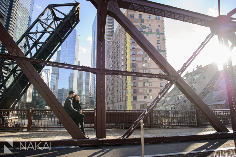 best chicago engagement locations photo kinzie bridge