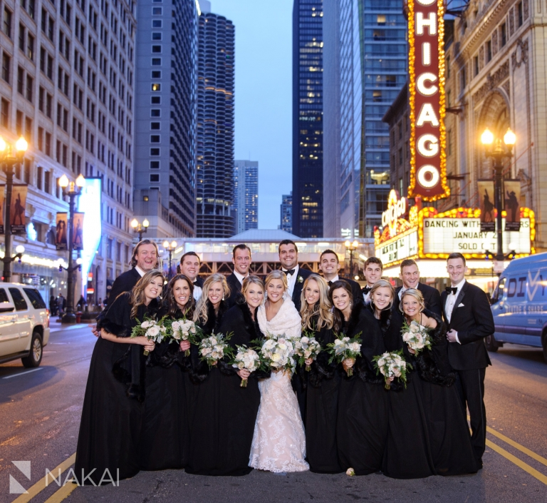 chicago marquee wedding picture state street