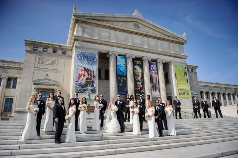 best chicago wedding photos field museum