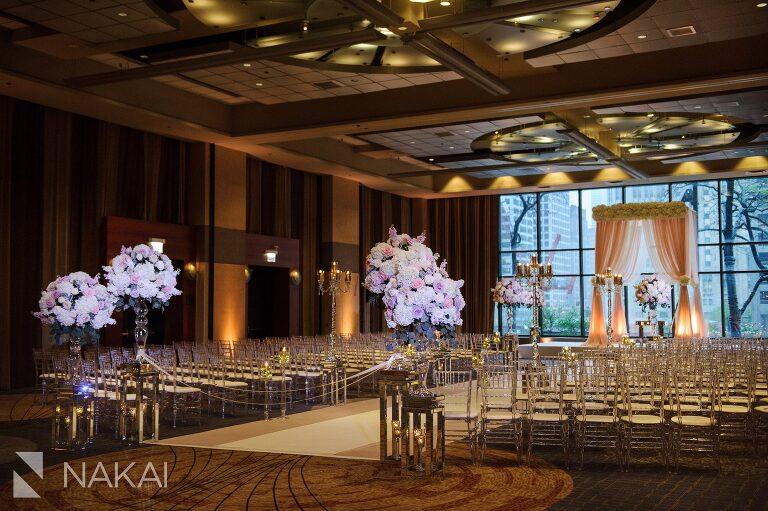 hyatt regency Chicago wedding photographer best ballroom ceremony venue